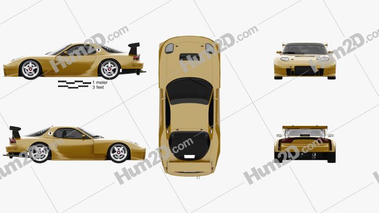 Mazda RX-7 GT300 2004 car clipart