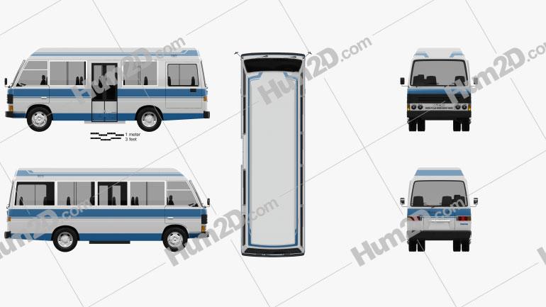 Mazda T3500 Mini Bus 1996 Clipart Image
