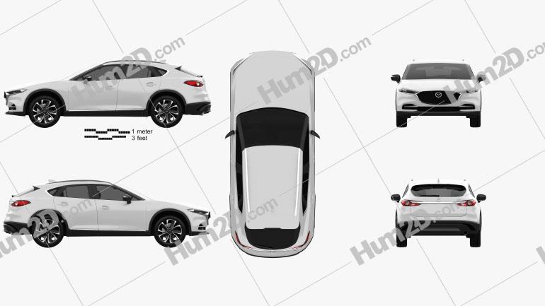 Mazda CX-4 2020 Clipart Image