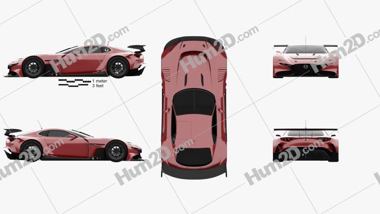 Mazda RX-Vision GT3 2020 car clipart