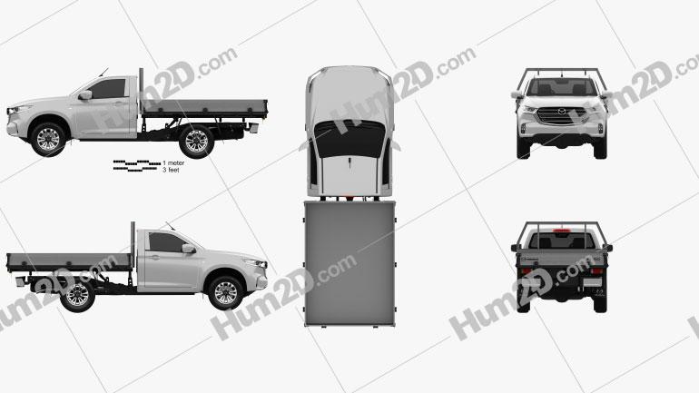 Mazda BT-50 Single Cab Alloy Tray 2020 car clipart
