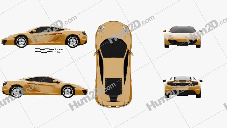McLaren MP4-12C 2011 Clipart Image