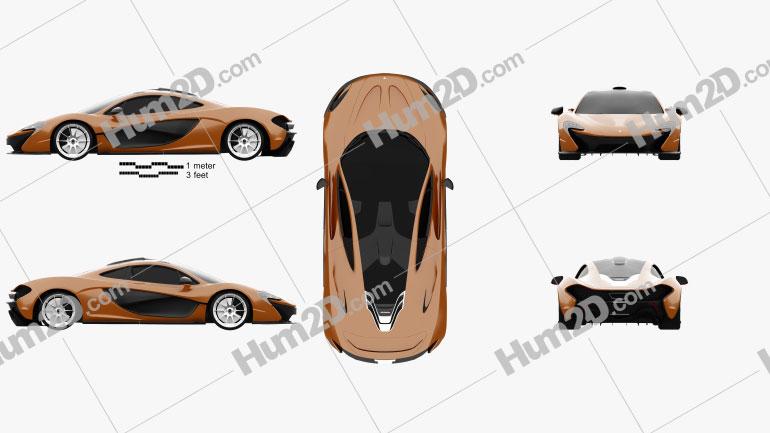 McLaren P1 2013 car clipart