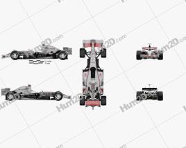 McLaren MP4-21 2006 car clipart