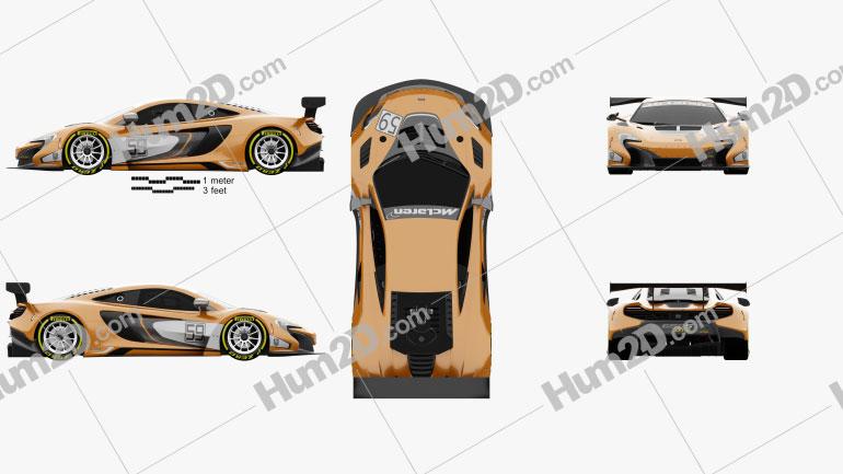 McLaren 650S GT3 2015 car clipart