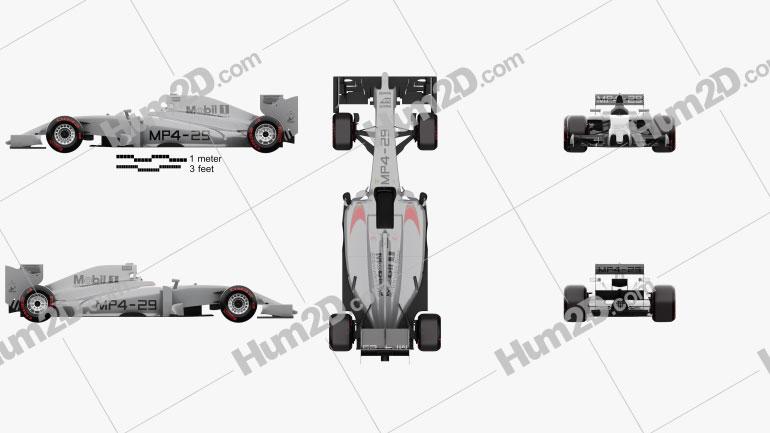 McLaren MP4-29 2014 car clipart