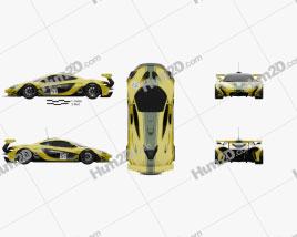 McLaren P1 GTR 2014 Clipart