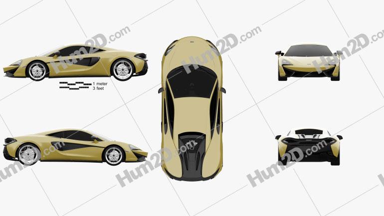 McLaren 570S 2016 car clipart