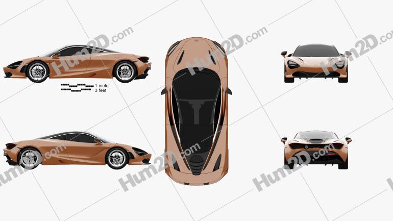 McLaren 720S 2017 car clipart