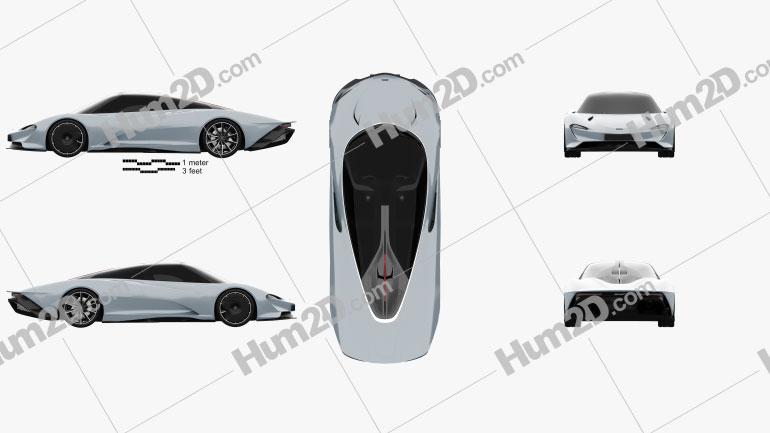 McLaren Speedtail 2019 Clipart Image