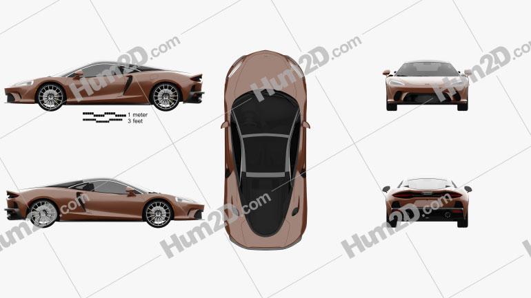 McLaren GT 2020 car clipart