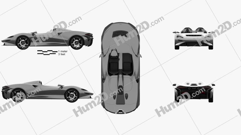McLaren Elva 2021 car clipart
