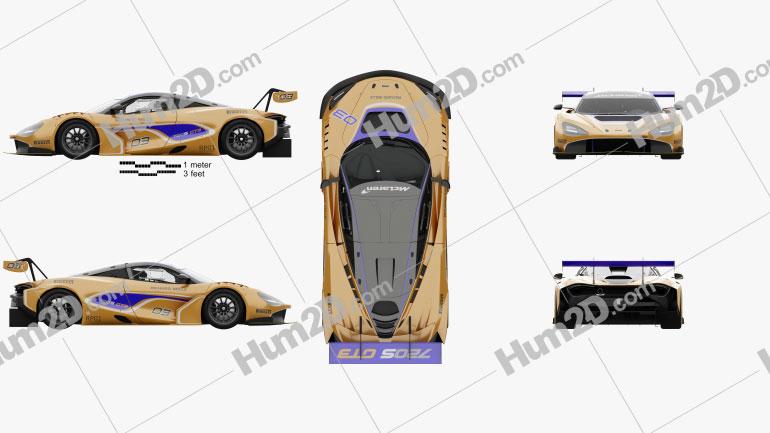 McLaren 720S GT3 with HQ interior 2019 car clipart