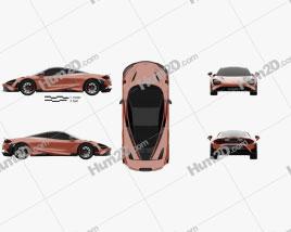 McLaren 765LT 2020 Clipart