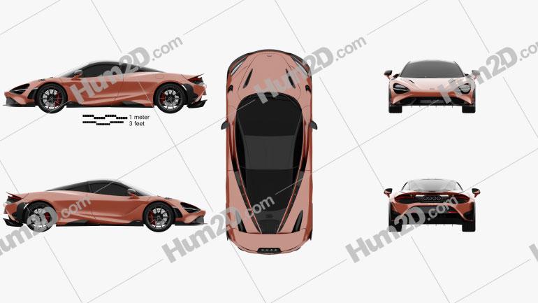 McLaren 765LT 2020 Clipart Image