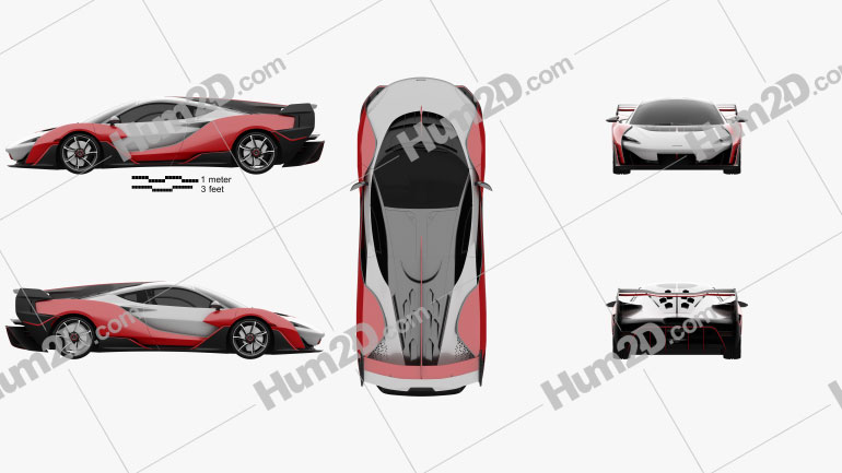 McLaren Sabre 2021 car clipart