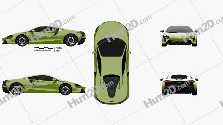 McLaren Artura 2021 car clipart