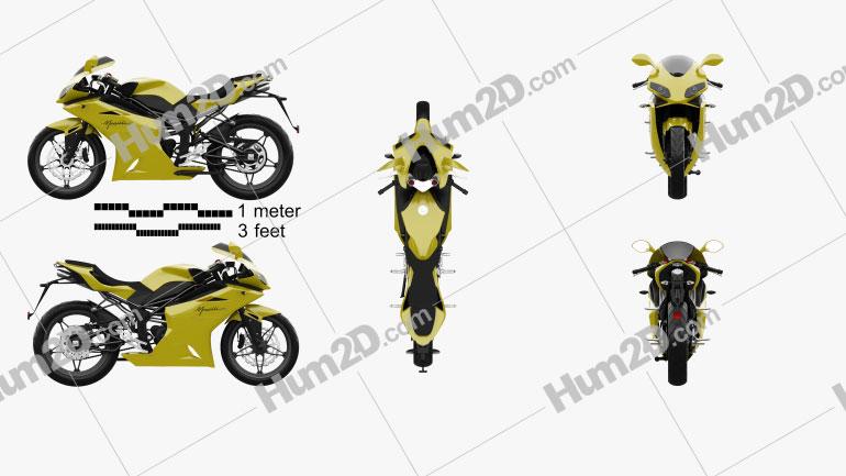 Megelli Sport 250 R 2013 Motorcycle clipart