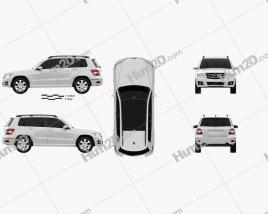 Mercedes-Benz GLK-Class 2010 car clipart