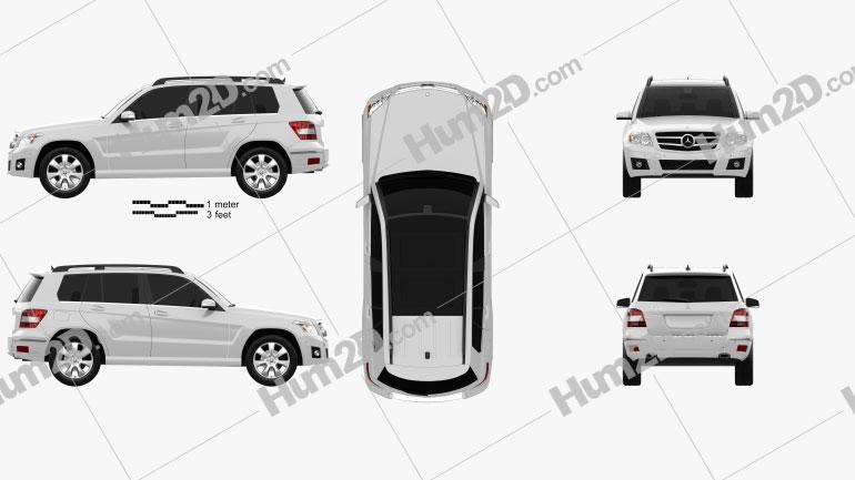 Mercedes-Benz GLK-Class 2010 Clipart Image