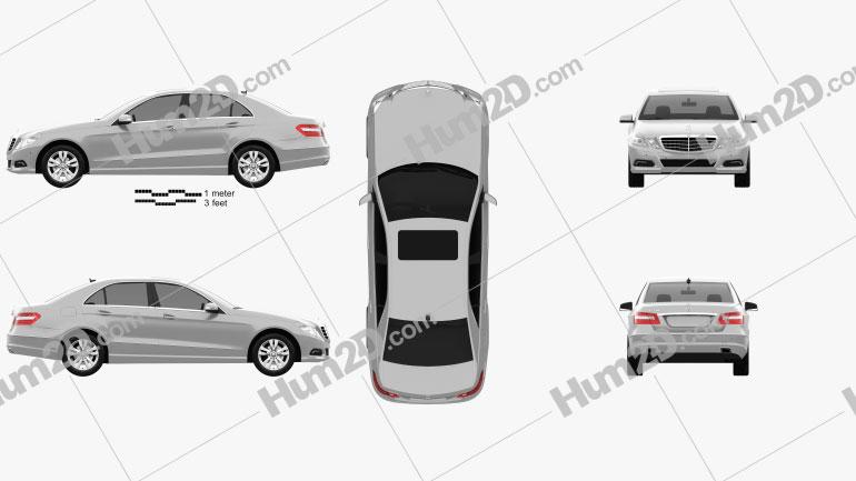 Mercedes-Benz E-Class 2010 Clipart Image