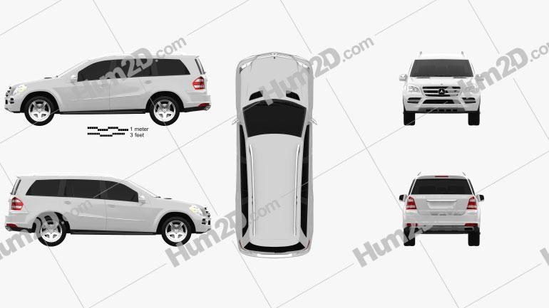 Mercedes-Benz GL-Class 2010 Clipart Image