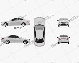 Mercedes-Benz C-Class 2010 car clipart