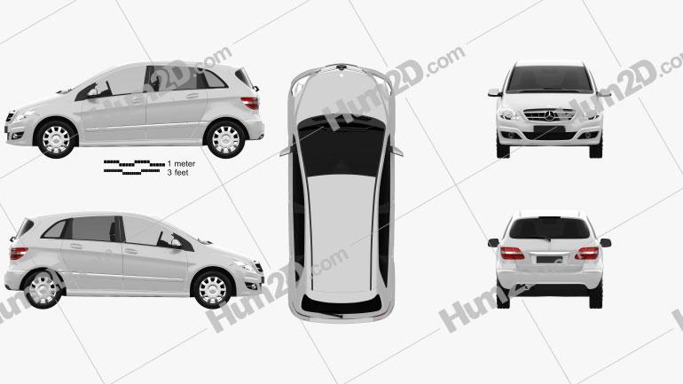 Mercedes-Benz B-Class 2010 Clipart Image