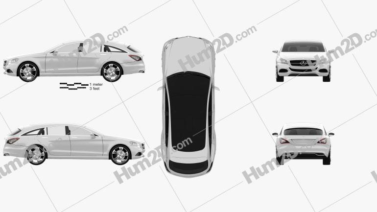 Mercedes-Benz Shooting Break car clipart