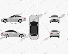Mercedes-Benz E-Class cabrio 2011 car clipart