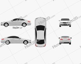 Mercedes-Benz E-Class coupe 2011 car clipart