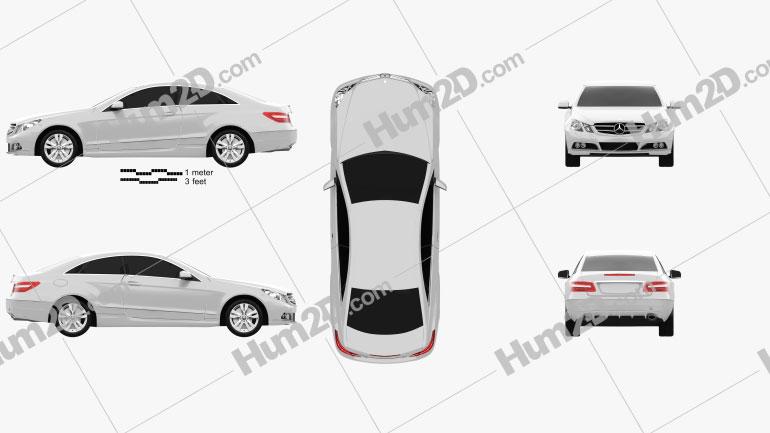 Mercedes-Benz E-Class coupe 2011 Clipart Image