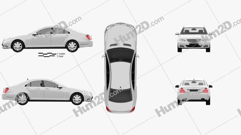 Mercedes-Benz Classe S car clipart