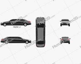 Mercedes Binz E-class Limousine car clipart