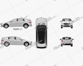 Mercedes-Benz R-Class 2011 car clipart