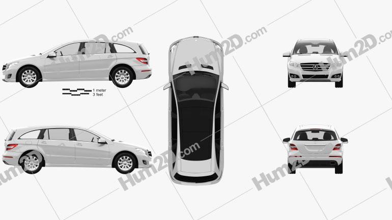 Mercedes-Benz R-Class 2011 Clipart Image