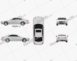 Mercedes-Benz CLS-Class (W218) 2012 car clipart