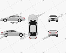 Mercedes-Benz CL-Class W216 2011 car clipart