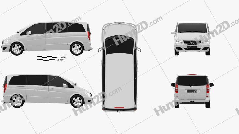 Mercedes-Benz Viano Compact Clipart Image