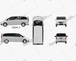 Mercedes-Benz Viano Long 2011 clipart