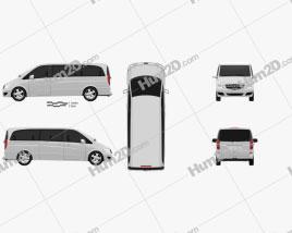 Mercedes-Benz Viano Extralong 2011 clipart