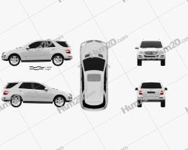 Mercedes-Benz ML-class 2011 car clipart