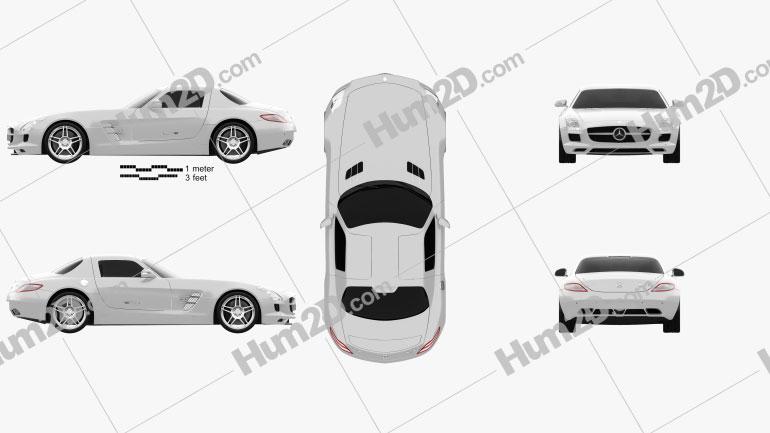 Mercedes-Benz SLS AMG 2011 car clipart