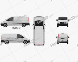Mercedes-Benz Vito W639 Panel Van Long 2011
