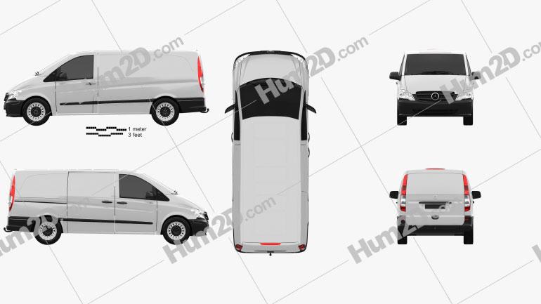 Mercedes-Benz Vito W639 Panel Van Long 2011 clipart