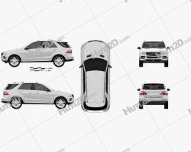 Mercedes-Benz M-Class 2012 car clipart