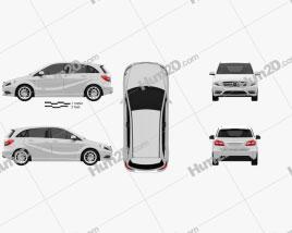 Mercedes-Benz B-class 2012 car clipart