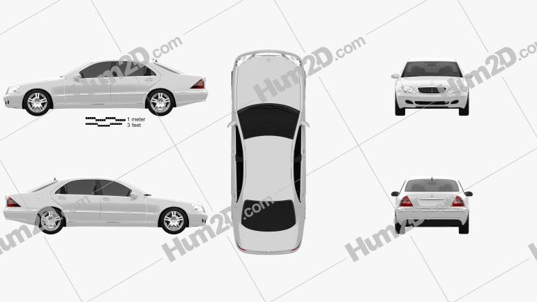 Mercedes-Benz S-class 2003 Clipart Bild