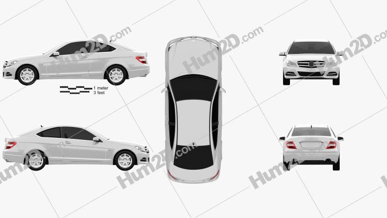 Mercedes-Benz C-class coupe 2012 Clipart Image