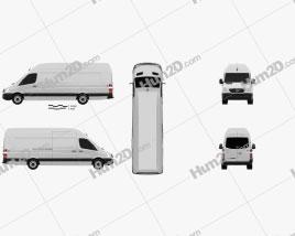 Mercedes-Benz Sprinter Panel Van Extralong 2011 clipart